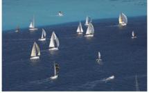 Départ commun pour tous les bateaux pour la 5ème étape de la régate. Photo : Bertrand Duquenne