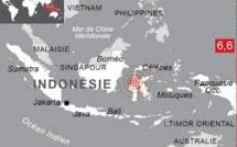 Indonésie: séisme de magnitude 6,6 dans l'île des Célèbes