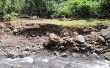 Les intempéries du mois de janvier avaient fait beaucoup de dégâts pour l'accès au site de la première cascade.