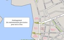 Travaux du front de mer : des stationnements provisoires  pour les taxis et bus