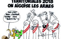 """"""" La guerre des territoriales """" vu par Munoz"""
