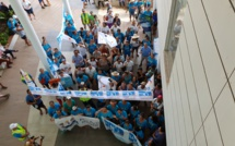Plus de 270 grévistes se sont retrouvés ce lundi, au vice-rectorat.
