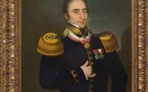 Portrait officiel d'Hyppolite Bouchard lorsqu'il était à la tête de toute la marine péruvienne.