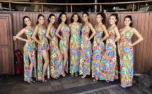 Elles sont neuf jeunes filles à se présenter à l'élection 2019 de Miss Tahiti. Crédit photo : Tevahitua - Ora Concept.