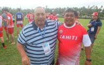 Louis Provost, président du Comité olympique de Polynésie française (COPF), avec Arsène Leu