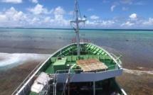 Colère autour du navire chinois échoué à Arutua