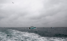 Pêche post-Brexit: démonstration de force des pêcheurs français devant Jersey