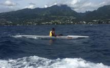 Hiromana Flores a été le meilleur dimanche sur le parcours entre Mahina et Papeete. (photo : Facebook Ftk Tahiti)