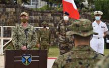 Manoeuvres militaires Japon/France/Etats-Unis dans une région nippone