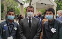 Du collège de Arue à Paris, ils slament devant Emmanuel Macron