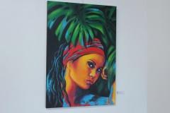 "Exposition de Nathalie Euryale salle Muriavai. ""La Boudeuse""."