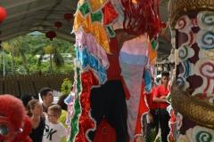 g-Derrière les lions se cachent des danseurs professionnels qui répètent assiduement