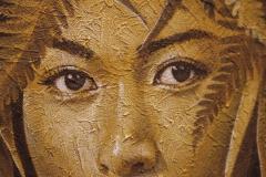 Détail d'une toile signée Olivier Louzé.