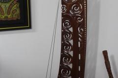 Sculpture sur bois, inspiré d'une proue de pirogue maori.