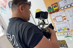 Tournage de Tama 'e Vai mā, à l'école