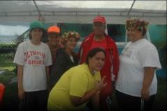 Fetia TEIFETU, au centre, à monter un nouveau club de pêche sous marine sur Tautira