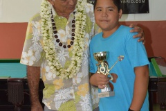 Oscar TEMARU - Maraea RUAHE 1er aux jeux de la 8, 9 et 10 catégorie Junior