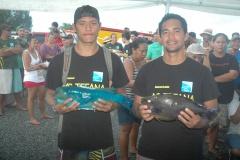 Maui TAEA et Manutahi CHOUNE, malchanceux lors des premières manches, ont réalisé une bien meilleure pêche ce week end