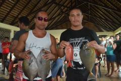 TUMARAE Dominique et WILLIAMS Michel de Raiatea ont fait une très belle pêche à la vague durant la deuxième journée
