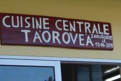 La nouvelle cuisine centrale de Rimatara.