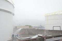 Le site de PPS compte huit citernes de stockage de carburant sur son site de Motu Uta.