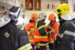Les sapeurs-pompiers de Papeete, Pirae, Faa'a et Punaauia se sont joints en renfort, pour s'intégrer dans le dispositif de sécurité mis en place par le site de stockage.
