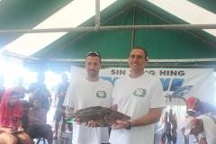 Les pêcheurs de Tautira chasse sous marine, Jérôme BLOUIN et Cédric TAPIERO, ont réalisé une belle pêche et ont assuré une belle deuxième place