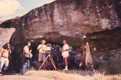 Tournage à l'île de Pâques, 1985.