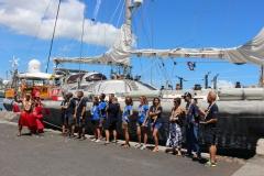 La goélette est arrivée mardi matin à Papeete.