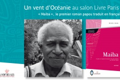 Dédicace au salon du livre de Paris. Russell Soaba pour Maiba.