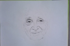 Charles Aznavour en cours.