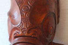 Tiki à tête creuse en bois de miro