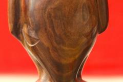 """Tiki """"éléphant"""" inspiré de l'original trouvé à Ua Huka (en lave) au-dessus de Hokatu, en 1982"""