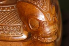 Tête de kotue, récipient pour conserver, entre autres, les crânes des ennemis
