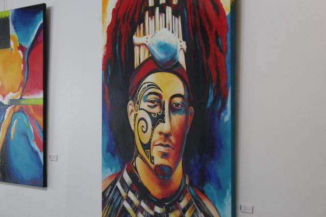 Exposition de Nathalie Euryale salle Muriavai.