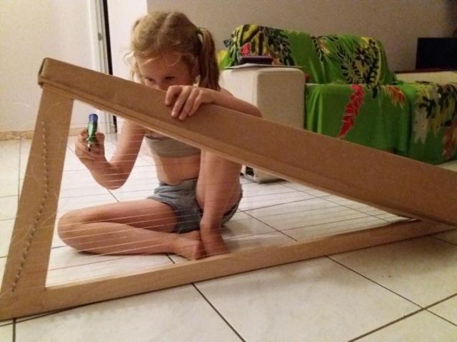 Étape de construction d'une pro harpe.