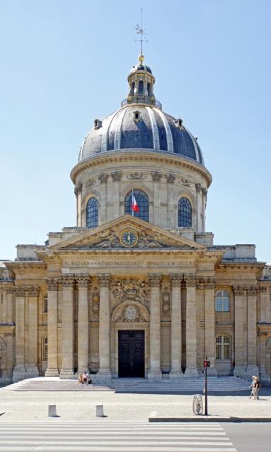 L'Institut de France qui accueille l'Académie française.