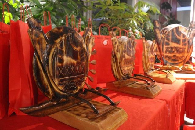 Les trophées ont été réalisés par des artisans.