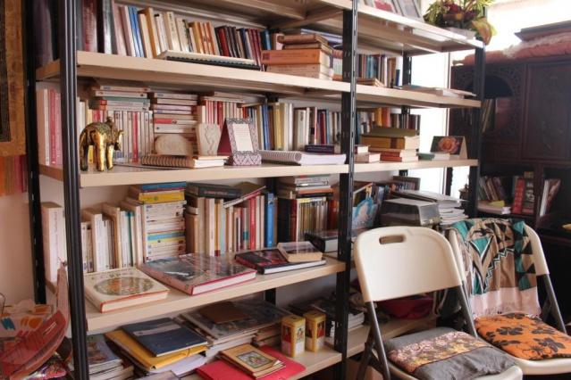 La bibliothèque du centre.