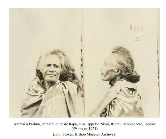 """Illustration extraite de """"Ethnologie de l'île de Rapa"""" par John Stokes, réédité par Christian Ghasarian."""