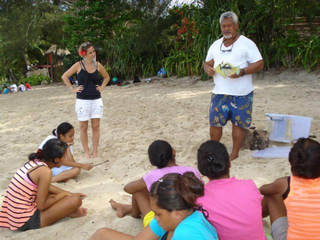 Enseignement pédagogique sur la plage du PK 18 bis
