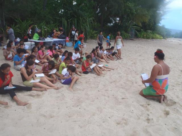Enseignement pédagogique sur la plage du PK 18 ter