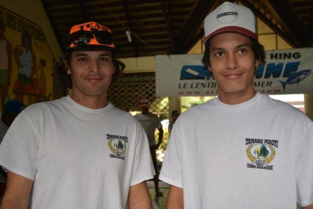 Tunui et Tearii COWAN ont surpris tout le monde avec leur pêche durant la 2ième journée