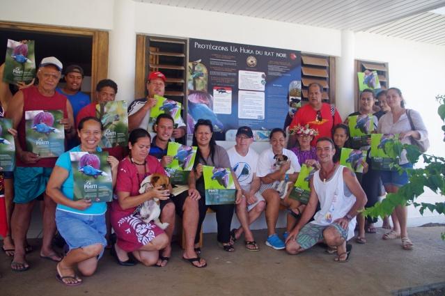 Ua Huka-Inauguration du panneau_ aeroport Ua Huka