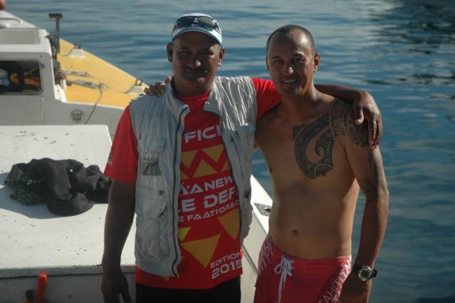 les anciens Edgar TEHAHE et Joel DROLLET toujours aussi passionnés par la compétition
