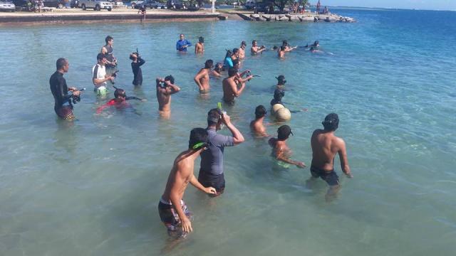 plus d'une trentaine de compétiteurs aux championnats de nage avec palmes