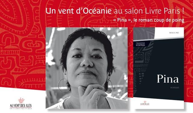 Dédicace au salon du livre de Paris. Titaua Peu pour Pina.