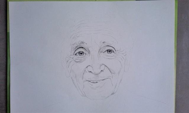 Charles Aznavour en cours.